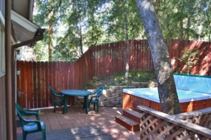point of rocks vacation rental patio and hottub