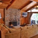 azalea creek living area, fireplace