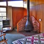 wood stove, bedroom