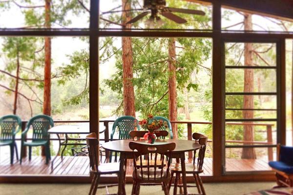 cabin interior dining area