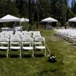 wedding seating setup