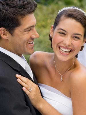 smiling married couple