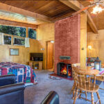 fireplace, open to bedrooms, dining area